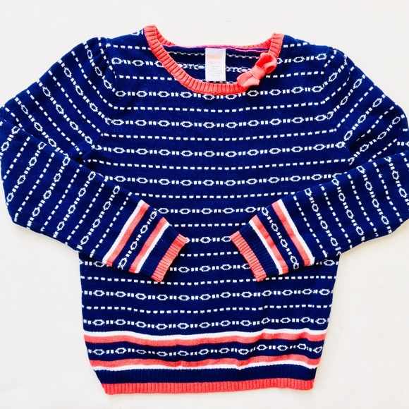 Gymboree Other - Gymboree Chain Link Navy & Red Sweater
